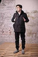 Куртка парка мужская весенняя черная
