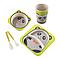 Набор детской посуды  5 предметов из бамбука Единорог, фото 2