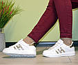 Кроссовки подростковые белые демисезонные gold эко кожа, фото 5