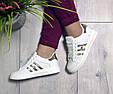 Кроссовки подростковые белые демисезонные gold эко кожа, фото 6