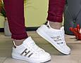 Кроссовки подростковые демисезон белые silver эко кожа, фото 3