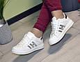 Кроссовки подростковые демисезон белые silver эко кожа, фото 5
