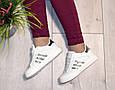 Кроссовки подростковые демисезон белые silver эко кожа, фото 4