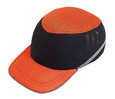 Каска-бейсболка захисна ударостійка (жовто-синя)   Каска-бейсболка захисна ударостійка оранжево-чорній