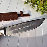 """Узбекский большой нож пчак """"Барс"""" с рукоятью из рога (Н_99), фото 4"""