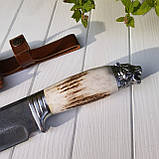 """Узбекский большой нож пчак """"Барс"""" с рукоятью из рога (Н_99), фото 3"""