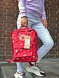 Молодежный рюкзак - сумка канкен Fjallraven Kanken classic red 16 л. красный с принтом, фото 9