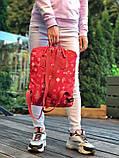 Молодежный рюкзак - сумка канкен Fjallraven Kanken classic red 16 л. красный с принтом, фото 10