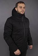 """Куртка мужская зимняя """"Glacier"""" от Intruder черная"""