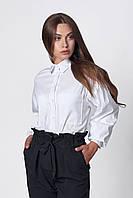 Блуза свободного силуэта белая