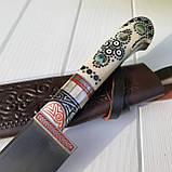 """Узбекский нож пчак """"Байрам"""" с рукоятью из кости (Н_101), фото 2"""