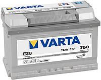 Авто Аккумулятор VARTA Silver Dynamic 74Аh 750A 574402075 E38