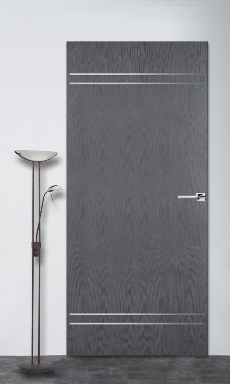 Міжкімнатні двері Флеш 9 сірий ясен ПГ (прихованого монтажу)