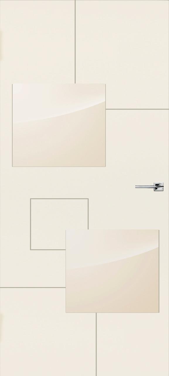 Міжкімнатні двері Арктика емаль слонова кістка ПО (прихованого монтажу)