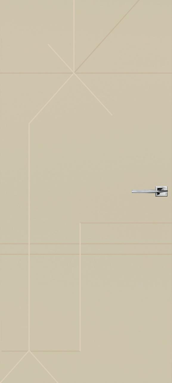 Межкомнатная дверь Галактика бежевая эмаль ПГ (скрытого монтажа)