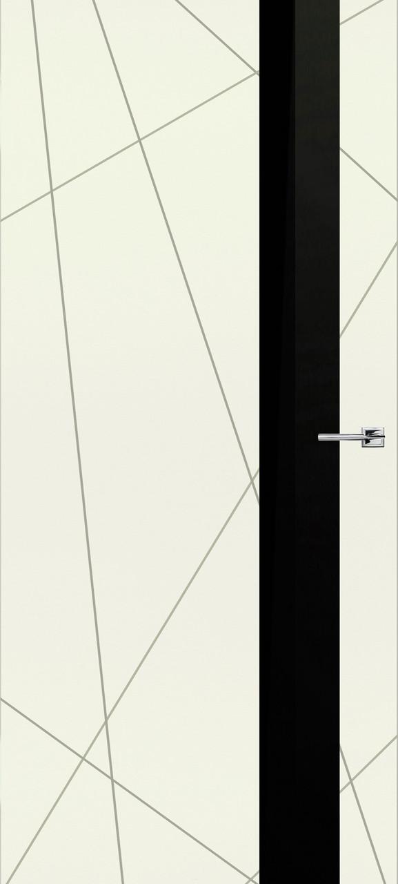 Межкомнатная дверь Геометрия эмаль крема ПО (скрытого монтажа)