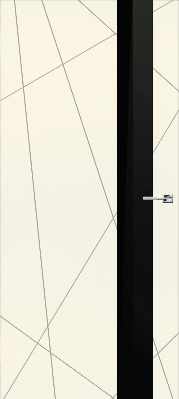 Межкомнатная дверь Геометрия слоновая кость эмаль ПО (скрытого монтажа)