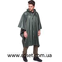 Дождевик плащ-палатка TY-0548-1 с капюшоном (нейлон, цвет оливковый), фото 1