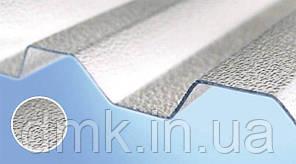 Полікарбонатний шифер Rober прозорий текстурований 2000*1045*0,8 мм трапеція