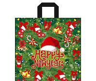 Пакет подарочный Пакет с петлевой ручкой 38*42см/80 Новый год (25шт) 0170022