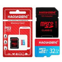 Карта памяти MicroSD карта 32Gb (10 class) с адаптером