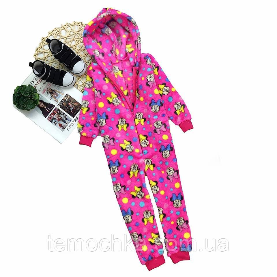 Кигуруми комбинезон махровый пушистый для дома и сна детский кигуруми для детей