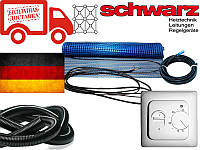 Нагревательный мат для теплого пола Schwarz (Германия) 1,1м.кв. 200Вт Комплект с терморегулятором