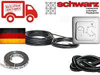 Нагревательный кабель для теплого пола Schwarz (Германия) 20м 400Вт 2 м² - 3.1 м² Комплект с терморегулятором, фото 1