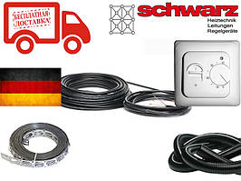 Нагревательный кабель для теплого пола Schwarz (Германия) 30м 600Вт Комплект с терморегулятором