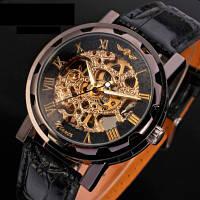 Winner Чоловічий годинник скелетон механічні Winner Chocolate 7231