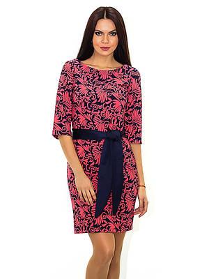 Нарядное женское платье с поясом