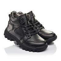 Ботинки на мальчика,теплые,кожаные,ортопедические ,черные.Турция.Woopy 7121/р31-40