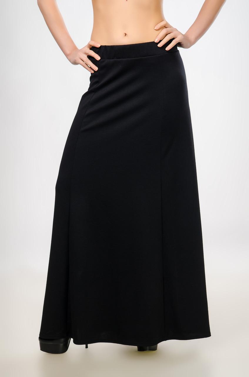 b28c8549f76 Женская юбка в пол (макси) из французского трикотажа - Интернет-магазин
