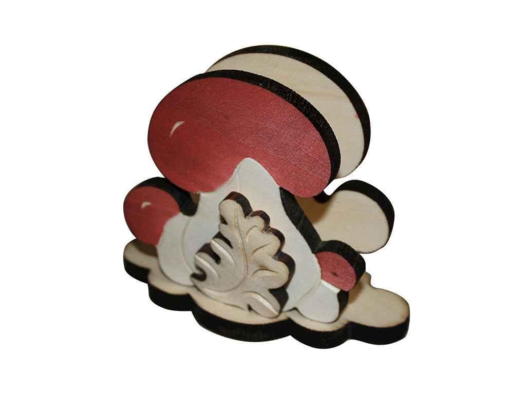 Салфетница деревянная Грибы