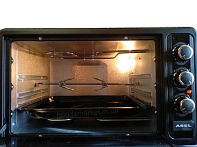 Духовка електрична ASEL TURBO на 50 літрів , гриль + конвекція + підсвічування ( два дека ), фото 3