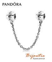 Pandora защитная цепочка СЕРЕБРЯНЫЕ СЕРДЦА 791088 серебро 925 Пандора оригинал