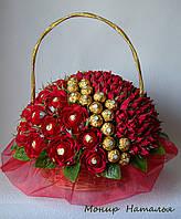 """Букет из конфет """"Миллион алых роз"""" с Ферреро Роше"""