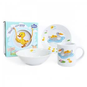 Детский набор столовой посуды Milika Duck Family 3 предмета M0690-3