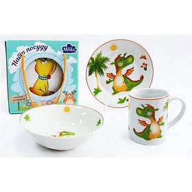 Детский набор столовой посуды Milika Baby Dragon 3 предмета Milika M0690-2