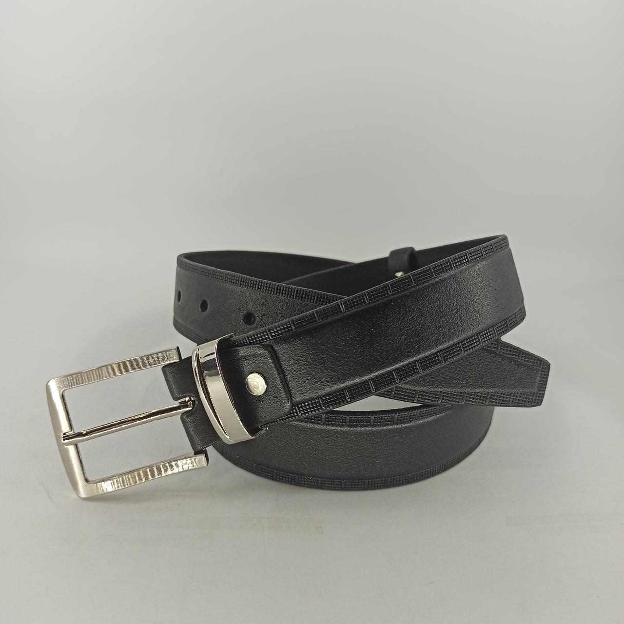 Мужской кожаный (PU) ремень с классической пряжкой PU035
