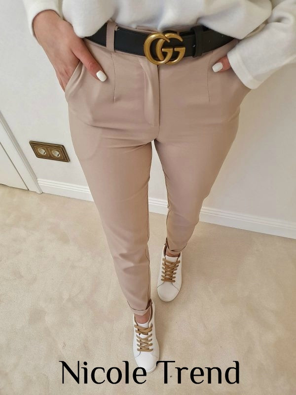Женские брюки, костюмка, р-р 42-44; 44-46 (бежевый)