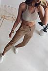 Женские штаны, турецкий коттон, р-р 42-44; 44-46 (бежевый), фото 2