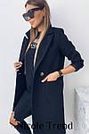 Женское пальто, турецкий плотный кашемир, р-р 42-44; 44-46 (чёрный), фото 2