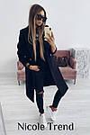 Женское пальто, турецкий плотный кашемир, р-р 42-44; 44-46 (чёрный), фото 3