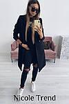 Женское пальто, турецкий плотный кашемир, р-р 42-44; 44-46 (чёрный), фото 4