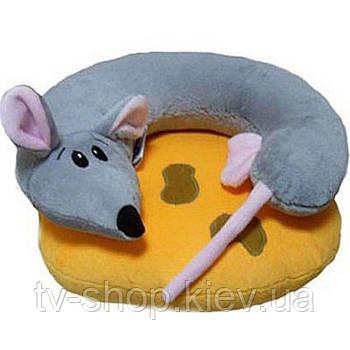 """Подушка в авто  2 в 1  """"Мышка на сыре"""""""