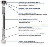 """Шланг нержавеющая сталь SOLOMON 1/2""""х1/2"""" ВВ 1,2м. HS30"""