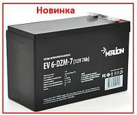 Тяговый аккумулятор Merlion EV 6-DZM-7 12В 7Aч F2, фото 1