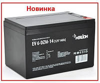 Тяговый аккумулятор Merlion EV 6-DZM-14 12В 14Aч М5, фото 1