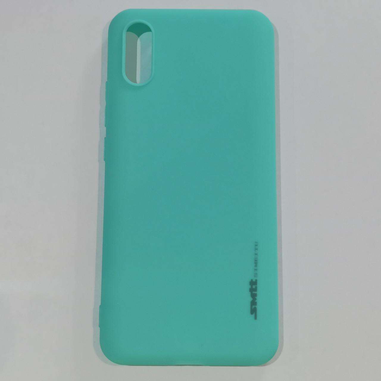 Бампер  для Xiaomi Redmi 9A Smit Бирюзовый